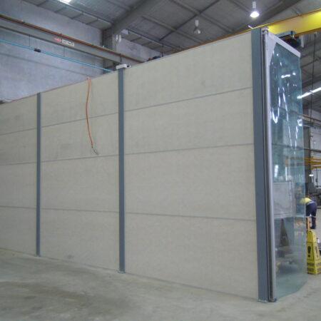 DuneWall with AcoustX Panel by Wallmark Australia interior dividing wall 4.2m high at Brisbane QLD