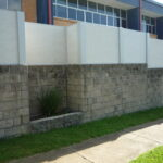 DuneWall with AcoustX Panel by Wallmark Australia on existing fence 1.2m high at Sunshine Coast