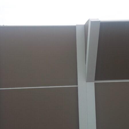 DuneWall with AcoustX Panel by Wallmark Australia with crank angle 3.6m high at Hungry Jacks Altona VIC