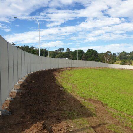 Evowall 2.4m high with strux panel by Wallmark at Lennox Head NSW