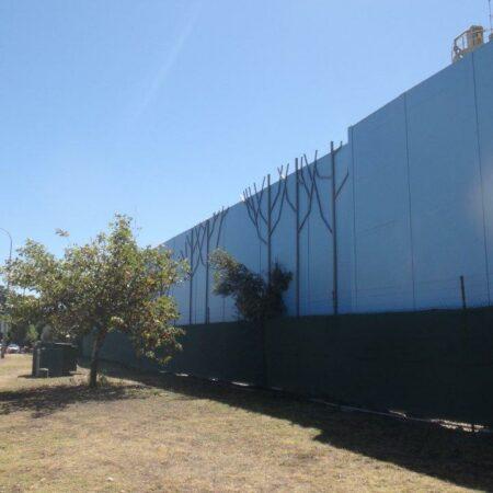 DuneWall with AcoustX Panel by Wallmark Australia 8.5m high at Perth WA