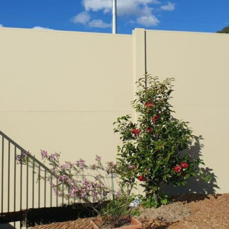 DuneWall with acoustx panel 3.3m high by Wallmark at Cobbitty NSW