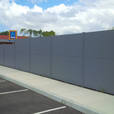 Evowall with Acoustx Panel by Wallmark Australia 2.1m high at QLD
