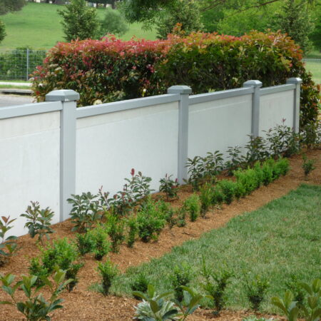 UrbanWall with AcoustX panel by Wallmark Australia. 1.8m high at Moss Vale, NSW