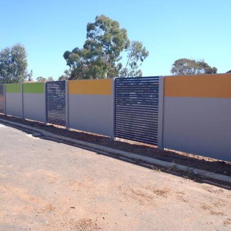 Evowall with Acoustx Panel with slat inserts by Wallmark Australia 2.1m high at SA