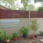 Evowall with Acoustx Panel with slat inserts by Wallmark Australia 2.4m high at Melbourne VIC