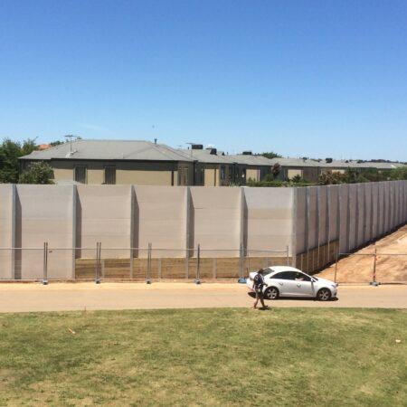 DuneWall with AcoustX Panel by Wallmark Australia 5m high at Narre Warren VIC