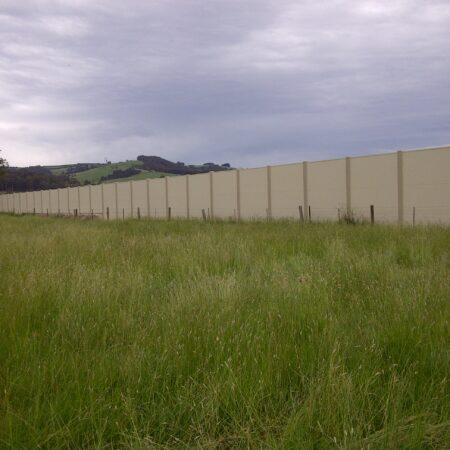 DuneWall 3300mm high x 800m long with AcoustX panel by Wallmark at VIC