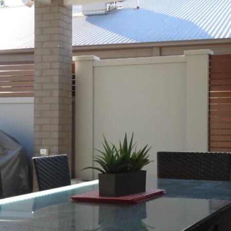 UrbanWall with Acoustx Panel by Wallmark Australia 2100mm high at Wodonga VIC