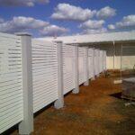 UrbanWall with Slat Panel by Wallmark Australia 2400mm high at Ferntree Gully VIC