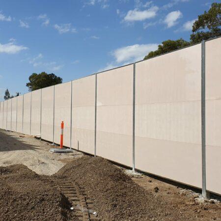 Dunewall with Acoustx panel by Wallmark 3m high at Altona, VIC