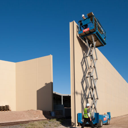 DuneWall with AcoustX Double Panel System by Wallmark Australia 12m high at Iluka Mines VIC