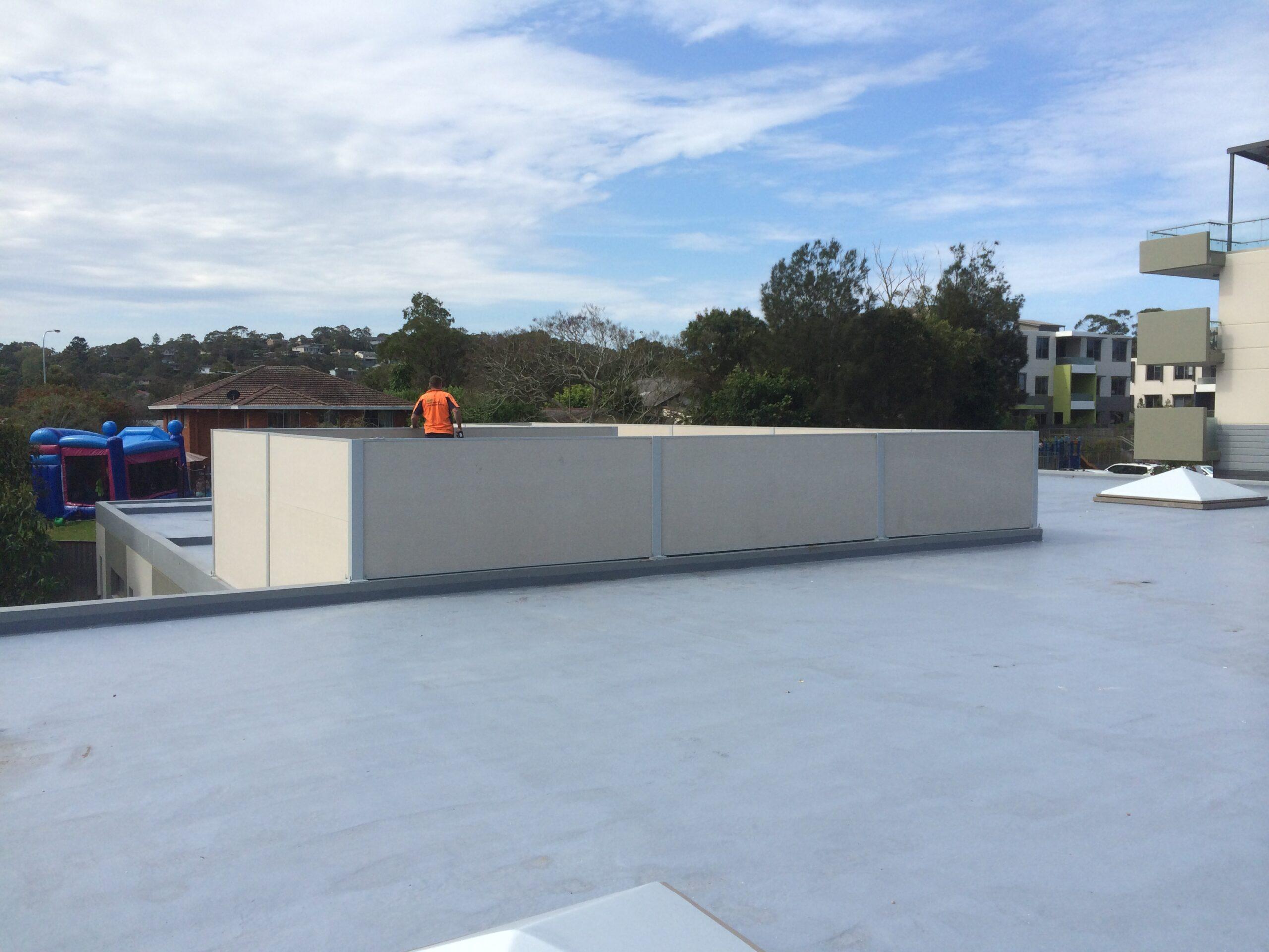 Evowall with Acoustx Panel by Wallmark Australia 1.8m high at Sydney NSW