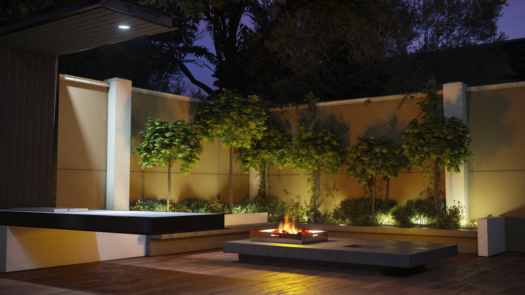 Wallmark modular walls in outdoor setting