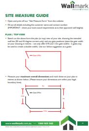 Wallmark Site Measure Guide